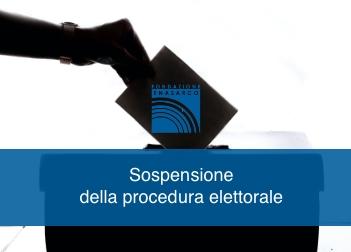 Sospensione della procedura elettorale per il rinnovo dell'Assemblea dei delegati