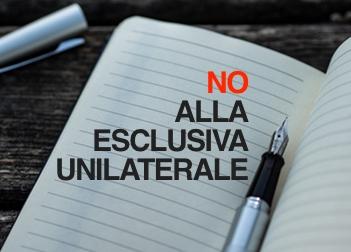 NO, all'esclusiva unilaterale