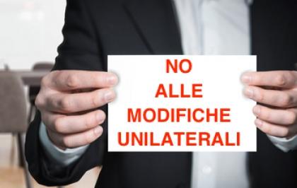 NO alle modifiche unilaterali