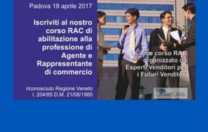 Padova, 18 aprile inizio corso propedeutico all'attività di agente