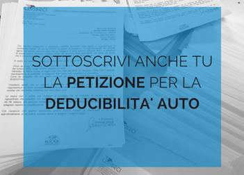 Deducibilità auto, firma anche Tu la petizione!